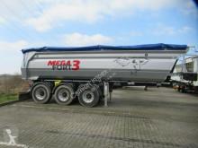Mega tipper semi-trailer 25 cbm Stahlmulde halbrund,Lift, SAF, Alu-Felgen