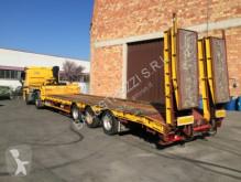 Heavy equipment transport semi-trailer