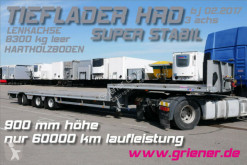 HRD JUMBO TIEFLADER HRD 3-achs LENKACHSE / 8300 KG / semi-trailer used heavy equipment transport
