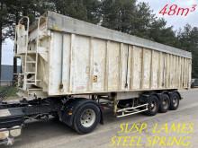 Benalu tipper semi-trailer 48m³ - GRAND VOLUME ALU - 3-ESS - SUSP. LAMES / STEEL SPRING / BLATT / BALLIESTAS