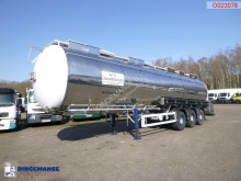 Feldbinder Food tank inox 39 m3 / 3 comp semi-trailer used food tanker