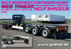 COSGN 27 / MULTI 1x40/2x20/1x20/45 liftachse semi-trailer new chassis