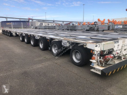 Nicolas flatbed semi-trailer MPV 135 12 AXLE 135T LOAD CAPACITY