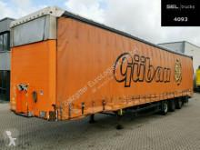 Yarı römork Schmitz Cargobull SCS 24/L- 13.62 M B VARIOS / Hubdach / EDSCHA tenteli platform ikinci el araç