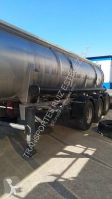Trailer tank chemicaliën Indox
