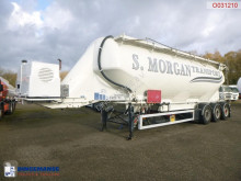 Feldbinder Powder tank alu 49 m3 + engine/compressor semi-trailer used tanker