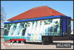 Schröder beverage delivery flatbed semi-trailer Schröder Jumbo Hubdach Getränke