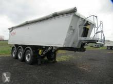 Fliegl tipper semi-trailer 24 cbm Rechteck-Alu-Mulde, SAF Scheibe, 1. Lift