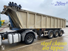 Semi remorque benne Kaiser 28m³ - BPW - ALU TIPPER / STEEL CHASSIS - BENNE ALU / CHASSIS ACIER - ALU KIPPER / STAAL CHASSIS - BE PAPERS - DRUM BRAK