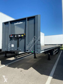 Semi remorque plateau Lecitrailer DISPO full arrimage plateau/porte container 3 essieux neuve