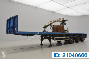 Semi remorque plateau Kennis Flatbed with crane