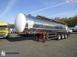 Indox Food tank inox 32.6 m3 / 1 comp semi-trailer used food tanker