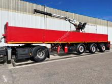 KWB STEENOPLEGGER + KRAAN KENNIS R-1150 - 1x EXT + ROTATOR - 2x STUURASSEN - SCHIJFREMMEN - SAF ASSEN - ALU VELGEN - BE PAPIEREN semi-trailer used flatbed