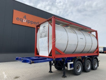 Semi 20FT/3-Achsen, ADR, 3.980kg, Liftachse + 25.000L van Hool tankcontainer