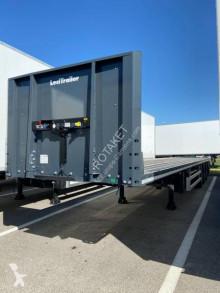 Sættevogn Lecitrailer DISPO full arrimage plateau/porte container 3 essieux neuve flatbed ny