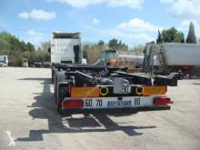 Semi remorque porte containers Fruehauf PORTE CONTAINER EXTENSIBKLE ADR 20 30 40 45 PIEDS 3 ESSIEUX SMB SUSPENSIONS AIR FREINS DISQUES 2008