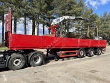 KWB flatbed semi-trailer STEENOPLEGGER + KRAAN KENNIS 16.000 R - 3x EXT + ROTATOR - 2x STUURASSEN - SCHIJFREMMEN - SAF ASSEN - BE PAPIEREN + JKB KLEM