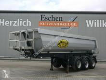Semi remorque benne Meiller KISA 3, 24 m³ Stahl, Luft/Lift, Podest, Plane