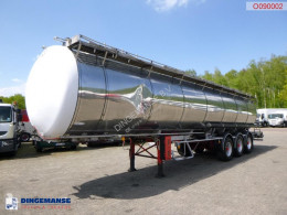 LAG Chemical tank inox 37.2 m3 / 4 comp semi-trailer used chemical tanker