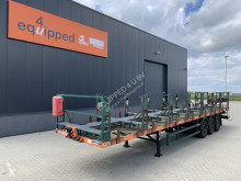Semi remorque Mafa for transport of gas-bottles, SAF Intradisc, NL-trailer plateau neuve