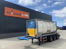 Semitrailer tank kemikalier Burg 20FT/30FT ADR-chassis + 20FT Tankcontainer 26.000L / 1-comp.