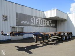 Semi reboque Wielton NS34P, container trailer , 3 ROR axle , Drum brakes , Air suspension porta contentores usado