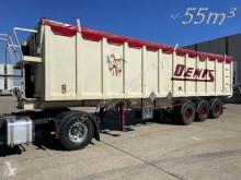 Stas tipper semi-trailer 55m³ ALU VOLUME KIPPER - BPW - ALU CHASSIS / ALU KIPPER - TROMMELBREMSEN / DRUM BRAKES / FREINS TAMBOURS - BACHE / PLANE