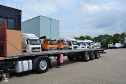 Semitrailer Samro ST39MH * 3xle * Stainless steel Chassis * platta begagnad