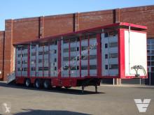 Yarı römork sığır taşıyıcı Menke 3/4 deck - Type 2 - Water/Ventilation - Lifting roof -Steering Axle - 124,19M2