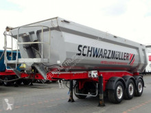 Semitrailer Schwarzmüller TIPPER 28 M3 / WHOLE STEEL /LIFTED AXLE/LIKE NEW flak begagnad