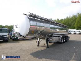 Burg élelmiszerszállító/büfékocsi tartálykocsi félpótkocsi Food tank inox 30.5 m3 / 3 comp + pump