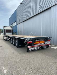 Lecitrailer flatbed semi-trailer full arrimage plateau/porte container DISPO SUR PARC