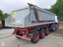 Langendorf half-pipe semi-trailer SKA 24/29 Alu Mulde 24 m³ Liftachse