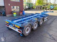 D-TEC container semi-trailer FLEXITRAILER VCC-01 MULTI 3 SAF assen - Schijfremmen - Banden 70% - 03/2022 APK (O615)