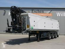 Semi reboque basculante Schmitz Cargobull SKI SKI 24, 39m³ Alumulde, Hiab 122 E-3 Pro Kran