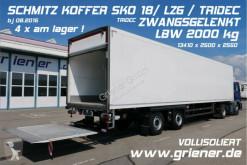 نصف مقطورة عربة مقفلة Schmitz Cargobull SKO SKO 18/ LZG / TRIDEC LENKUNG / LBW 2000 kg /CITY