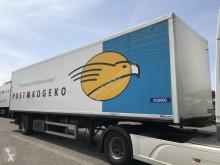Fruehauf box semi-trailer ONCRK 22-110 A stuuras met laadklep