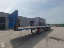Semitrailer platta Samro SR334DAR (ROR-axles / DRUM BRAKES / FREINS TAMBOUR / PARFAIT ETAT)
