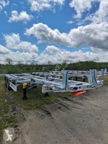 Semi reboque Fliegl Porte containers extension manuelle AV/AR DISPO PARC porta contentores novo
