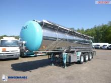 Burg Food tank inox 26.8 m3 / 1 comp + pump Auflieger gebrauchter Tankfahrzeug Lebensmittel