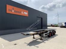 Semirremolque portacontenedores Burg 20FT ADR-chassis, empty weight: 3.690kg, SAF INTRADISC, 2x liftaxle