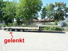 Semi remorque porte engins Möslein 3 Achs Tieflader für Fertigteile, Maschinen ode