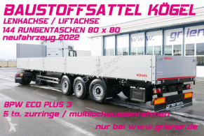 Návěs plošina bočnice Kögel SN24 /BAUSTOFF 800 BW /144 x RUNGEN LENKACHSE