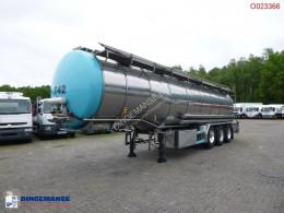 Burg élelmiszerszállító/büfékocsi tartálykocsi félpótkocsi Food tank inox 32.5 m3 / 3 comp + pump