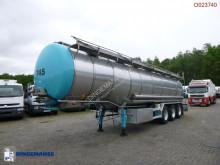 Burg élelmiszerszállító/büfékocsi tartálykocsi félpótkocsi Food tank inox 32.6 m3 / 3 comp + pump