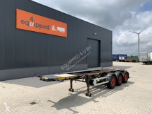 Burg container semi-trailer 20FT ADR-chassis, empty weight: 3.690kg, SAF INTRADISC, 2x liftaxle