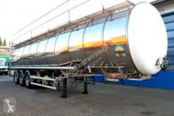 Burg élelmiszerszállító/büfékocsi tartálykocsi félpótkocsi Burg 12-27 ZGZXX 3-Kammer 58m³ Lebensmittel