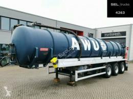 Semirremolque cisterna Hüffermann Fäkalienentsorgung Tank/Saug/Druck / 26.000 l