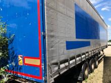 Semitrailer Samro Mega 445/45 R 19.5 skjutbara ridåer (flexibla skjutbara sidoväggar) spolgropar begagnad