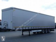 Félpótkocsi Krone CURTAINSIDER /STANDARD/ LIFTED AXLE / NEW TIRES használt ponyvával felszerelt plató